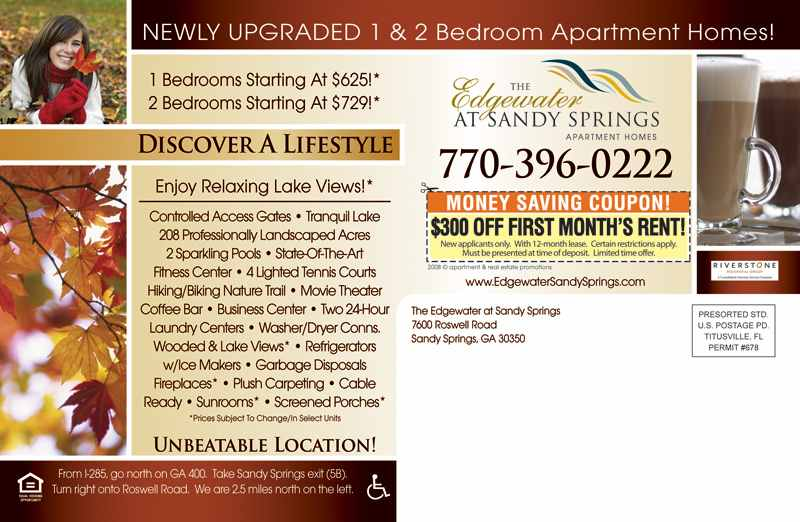Apartment real estate promotions we are the direct mail experts edgewater back altavistaventures Choice Image