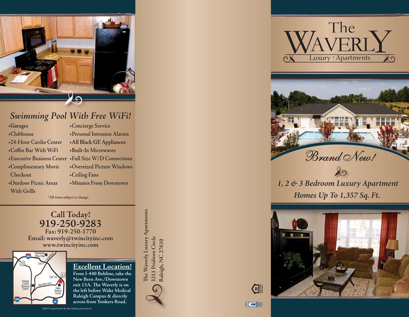 Apartment TriFold Brochure Samples – Tri Fold Examples