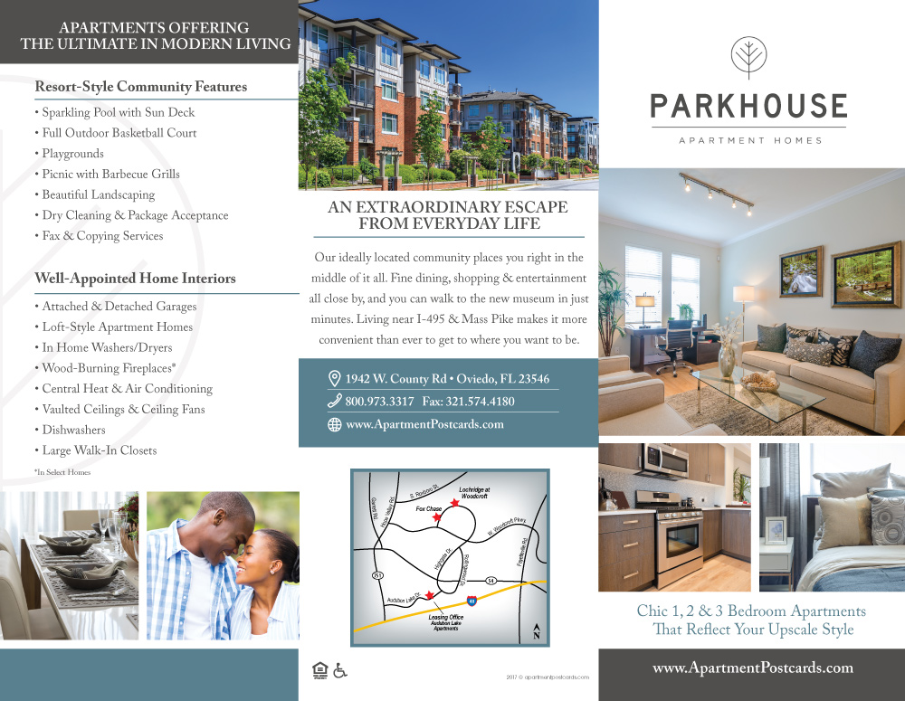 Apartment TriFold Brochure Samples Classy Apartment Brochure Design