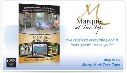 Marquis at Tree Tops Postcard Testimonial