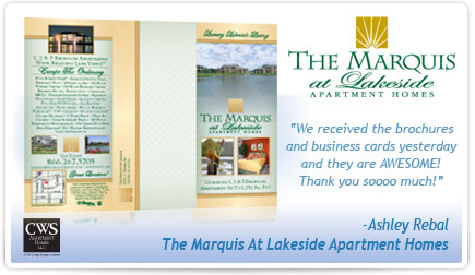 The Marquis at Lakeside Apartment Homes Brochure Testimonial