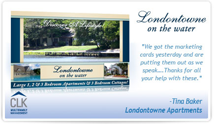 Londontowne on the Water Apartments Postcard Testimonial