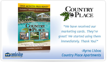 Country Place Apartments Postcard Testimonial
